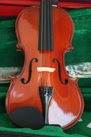 Wholesale Top quality satin antique varnish violin with solid selected spruce Violino Sending Violin Case Violin Bow Rosin
