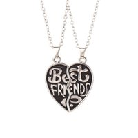 american fine jewelry - 2016 European Fine Jewelry Bestfriend Pendant Necklace Vintage Alloy Necklace Black and White Two Color ZJ