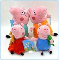 Wholesale New Large Peppa Pig Family Soft Plush Stuffed Toy Peppa George Mummy Daddy