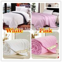 Wholesale 100 Pure Natural Mulberry Silk Quilt comforter Blanket Spring Summer Autumn King king Full Size white1 KG