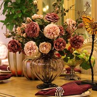 large silk flowers - Fashion Large fashion peony rose artificial flower silk flower dining table flowers