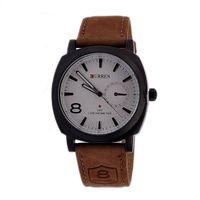 Wholesale 2014 the fashion curren men s watch trend casual watches Quartz PU strap stainless steel wrist watch outdoor