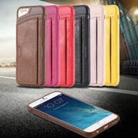 scratch card - DHL EMS Free I6 Slim Back Case PU Leather Card Insert Cover For Iphone inch Portable Phone Bag Scratch resistant Soft Mobile Phone Case