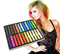 Wholesale 24 Colors Hair Chalk Long Size Temporary Non toxic Hair Pastels Crayons Hair Color Pastel Dye Sticks JF B2