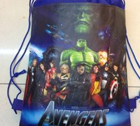 Wholesale new fashion Marvel s The Avengers favorite carttoon mix Hans non woven string backpack pouch for kids children s gift school bag