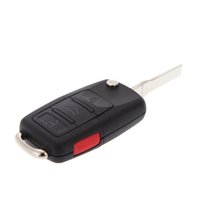 Wholesale car Good Quality New Uncut Flip Key Remote Keyless Entry Fob Clicker Molde HLO1J0959753AM