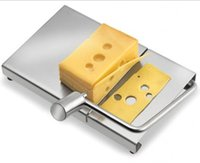 cake boards - Stainless Steel Cheese Slicer Butter Cutting Board Cake Goose Liver Slice Table with Stainless Steel Strings Kitchen Shredded