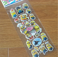 Wholesale 2016 Newest D Cartoon Sticker Minions Despicable me Wall Stickers Frozen Christmas Father Big Hero little Pony Stickers Kindergarten Reward