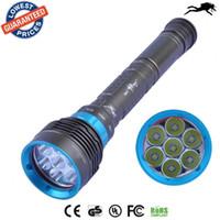 Wholesale DV07 CREE XM L2 Lumens L2 led diving flashlight torch M Underwater Waterproof LED Flash Light Lantern