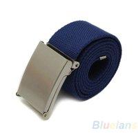 cotton belts - 11 Colors New Candy Colors Men Women Unisex Boys Plain Webbing Cotton Canvas Metal Buckle Belt Accessories NZJ MVI