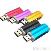 Wholesale Multifunctional Lighter Shape USB2 Micro SD TF MMC SDHC MS Memory Card Reader