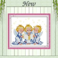 baby cross stitch patterns - The praying angel pattern printed on fabric DMC CT CT Cross Stitch Set embroidery needlework kits lovely baby Home Decor DIY