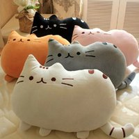 Unisex 8-11 Years Push EMS 30pcs lot Cute Cat Plush Toy Stuffed Dolls Animals Talking Toys Pusheen Cat Plush Pillow Cushion Gift For Girl 5 Colors