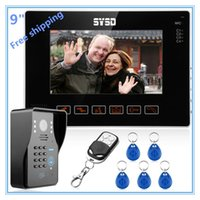 Wholesale 9 quot Video Door Phone Doorbell Intercom System Keypad Remote Unlock Compatible RFID Keyfobs CCTV Camera