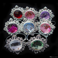 aluminum banquet tables - Table Decoration Light Purple Diamond Gem Napkin Rings Serviette Holder Wedding Banquet Dinner