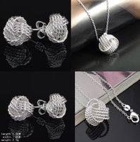 Wholesale Top Grade Silver Jewelry Sets New Fashion Hot Sale Earrings Pendants Necklaces Set for Women Girl Gift YDH