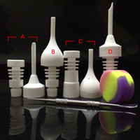 Wholesale 14mm mm Male or Female Ceramic Nail Glass Bong Tool Set with Carb Cap Dabber Tool Slicone Jar Dab Container VS Titanium Nail