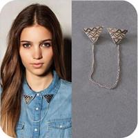 Wholesale Oh0156 fashion accessories vintage trigonometric collar chain collar clip brooch stud brooch