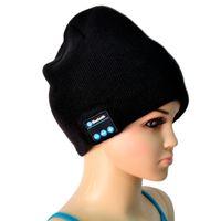 Wholesale Bluetooth Music Hat Soft Warm Beanie Cap with Stereo Headphone Headset Speaker Wireless Microphone V887 Via Epacket