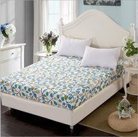 Wholesale High Quality Solid Color Full Queen Size Cotton Mattress Cover Bed Protect Cover Bed Fitted Sheet SM006