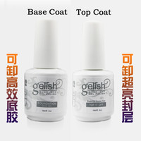 Wholesale gelish Top Coat Primer Base Uv Gel Nail Art Polish Professional Nail Art Kit Gel Top and Base Coat Uv Gel Polish