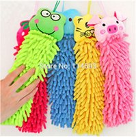 Wholesale Cheap Chenille fabric microfiber lovely animal cleaning home towel cartoon hand towels for Kitchen Bathroom Office Car Use