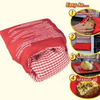 Wholesale 30pcs New Practical Red Potato Washable Microwave Cooker Steam Pocket In Minutes Fast Easy Gift Cooking Bag