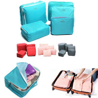 Wholesale Hot Sell X Travel Storage Bag Luggage Clothes Tidy Organizer Pouch Suitcase Handbag Case Red Blue Pink Gray A3