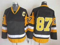 Wholesale NEW PREMIER Player Penguins Sidney Crosby Jersey Letang Malkin Black Hockey Jersey Sports Uniforms Athletic