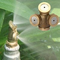 agricultural nozzles - 3 Holes DN15 Sprayer Adjustable Brass Spray Misting Nozzle Agricultural Gardening Irrigation Lawn Equipment Sprinklers