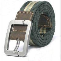 2.015 Gratis Cinturones envío de la manera de los hombres ocasionales de la lona cuero genuino de moda cinturón de lona para los hombres