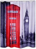 Wholesale 100 Polyester Fabric Shower Curtains Liner waterproof London printed home products washable Bathroom Shower Curtains quot