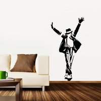 portrait background - 2015 Hot Sale Portrait Wall Decals Michael Jackson Background Wall Stickers Room Decoration Vinyl Mural Art