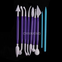 Wholesale Cu3 Double Heads Plastic Pottery Clay Sculpture Tools