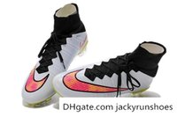 shoe stores - Nike Mens Soccer Boots Athletic Outdoor Mens Soccer Shoes Nike Mercurial Superfly AG White Volt Hyperpink Mens Soccer Cleats Factory store
