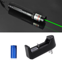 Wholesale car dvr Hot Sale mw nm Laser Pens Green Laser Pointer Pen Focus Burn Beam Light with Battery Charger H95008