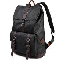 advance laptop - UYLP College Style Man Backpack Korea Tavel Bag Advanced Black PU Leather Casual Men s Bag Laptop Bags