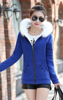 Wholesale New Winter Jacket Coat Women Cotton Down Parkas With Luxury Large Fur Collar Hood Thick Coat Outwear Colors Plus M XL
