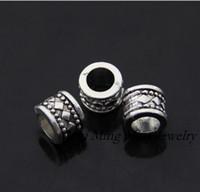 Wholesale Hot Tibetan Silver Bronze Spacers Big Hole Beads Fit For Pandora Bracelet Necklace mm