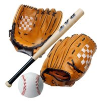 Wholesale 2016 new Pc Inch Wooden Baseball Bat Pc quot Youth Baseball Glove Pc Training Ball Kid Baseball Set Free DHL E431J