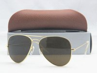 Wholesale G15 Lens MEN S SUN GLASS METAL PILOT SUNGLASSES MIRROR LENS ORIGINAL BOX CARD CLOTH