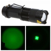 aa aluminum - UltraFire Q5 Green Light W Lm CREE LED Flashlight Mode Adjustable Focus Torch Aluminum Alloy Black AA Battery