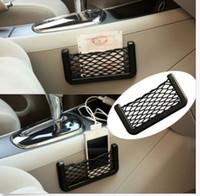 Pocket Holder abs kia - 15 cm Car Storage Mesh Net Resilient String Phone Bag Holder Organizer For Hyundai Kia Audi Ford universal car phone holder