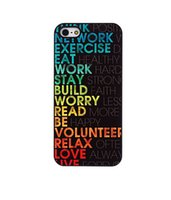apple words - Colorful Words About Life Skin Hard Plastic Mobile Phone Case Cover For iPhone S S C Plus