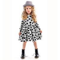 Wholesale Winter Autumn Spring Girl Dress Animal Print Kids Clothes Fashion Long Sleeve Cotton Girls Clothes Casual Children Clothing