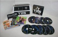 Wholesale Focus T25 DVDS T s Crazy Potent Slimming Shaun Set Training Alpha Beta Gamma Core beta Top Quality Dvds Speeds T25 EMS DHL