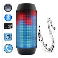 Wholesale Pulse Portable mini Wireless Bluetooth Speaker Support NFC LED lights show TF card U disk Outdoor Speaker