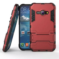 Leather ace pc - Hybrid KickStand Anti Shock Defender Armor Case TPU PC cover for SAMSUNG GALAXY J1 ace J110 GALAXY J2 Galaxy J2 J210 J3 PRO J3