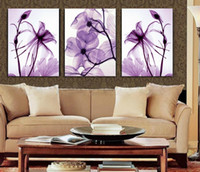 Cheap 2015 New oil style 3 Panel Modern Wall Painting Home Decorative Art Picture Paint on Canvas Prints Blue flower enchanting