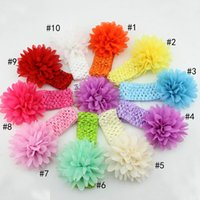 plastic tiaras - Foreign children baby hair accessories solid color chiffon knitted headband hair band lead AliExpress ebey explosion models